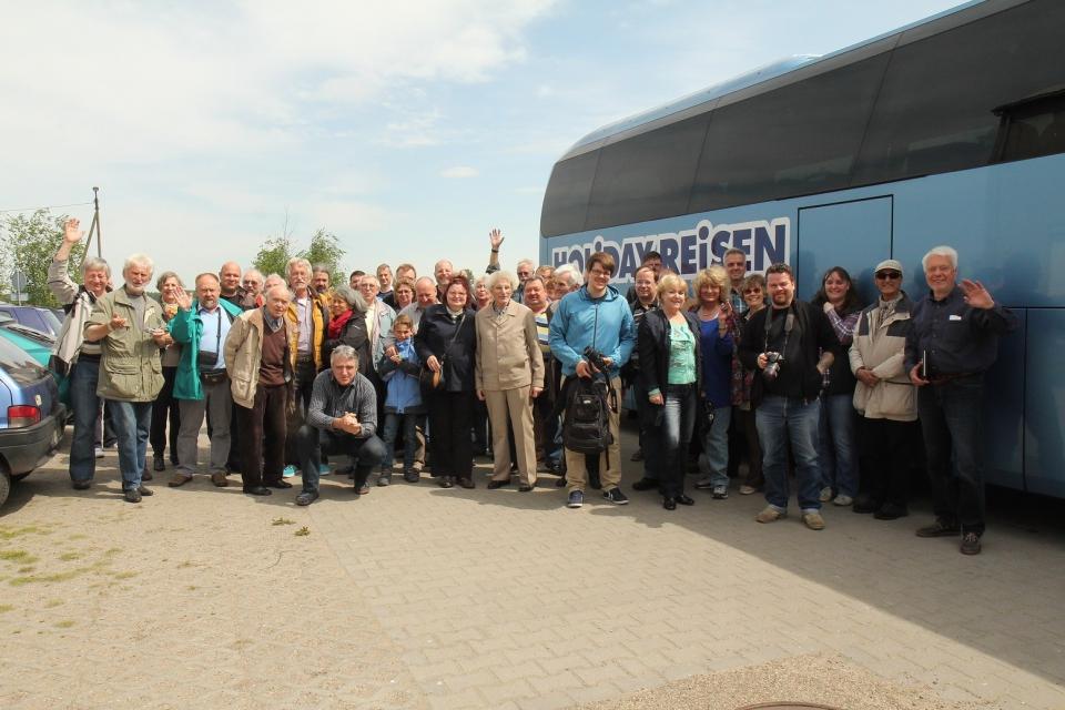 Teilnehmer der Busfahrt nach Polen